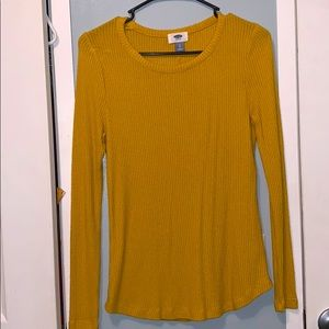 Old Navy Yellow Long-Sleeve Top